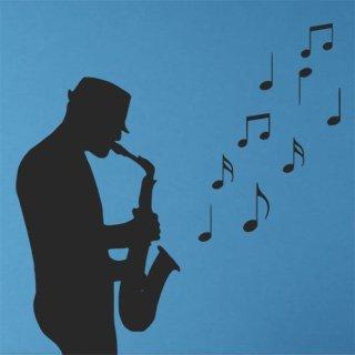Nálepka na zeď Saxofonista 001 - 120x123 cm