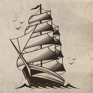 Samolepka Loď 001 - 100x121 cm