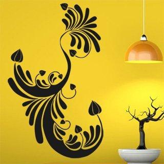 Samolepka na stěnu Ornamenty z rostlin 003 - 120x195 cm