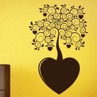 Samolepící dekorace Strom se srdíčky 0221 - 120x183 cm