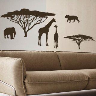 Samolepka na zeď Africké zátiší 002 - 120x47 cm