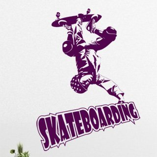 Nálepka na zeď Skateboardista 003 - 100x138 cm