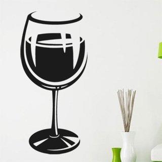 Samolepka Sklenice na víno 0077 - 80x172cm
