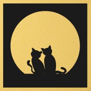 Nálepka na zeď Dvě kočky 0435 - 120x120 cm