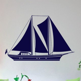 Samolepka na zeď Plachetnice 002 - 92x60 cm