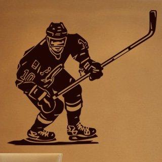 Samolepka na zeď Hokejista 001 - 68x60 cm