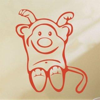 Samolepka na zeď Opička 003 - 60x70 cm