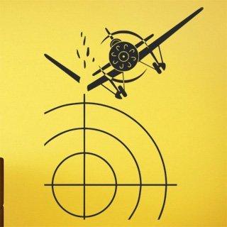 Samolepka na stěnu Letadlo 005 - 120x159 cm