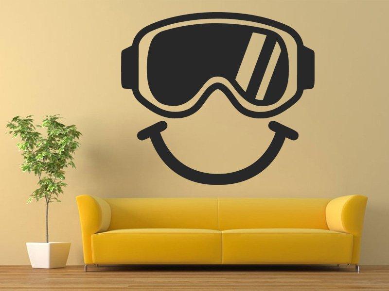 Samolepka na zeď Brýle na snowboard 0974