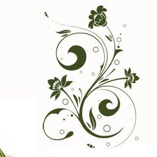 Samolepka Ornamenty z rostlin 040 - 80x120 cm