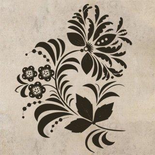 Samolepka Ornamenty z rostlin 039 - 80x102 cm