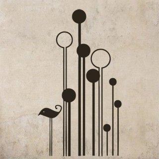 Samolepka na zeď Pták 009 - 60x106 cm