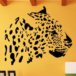 Samolepka na zeď Leopard 005 - 69x60 cm