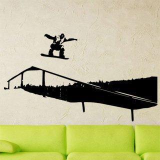 Samolepka na zeď Snowboardista 002 - 106x60 cm