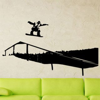 Samolepka na stěnu Snowboardista 002 - 212x120 cm