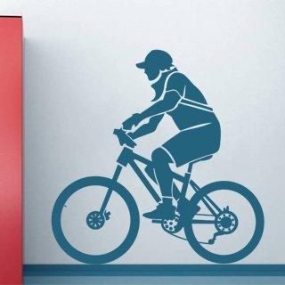 Samolepka na zeď Cyklista 001 - 60x62 cm