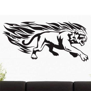 Samolepící dekorace Tygr s plameny 004 - 172x80 cm