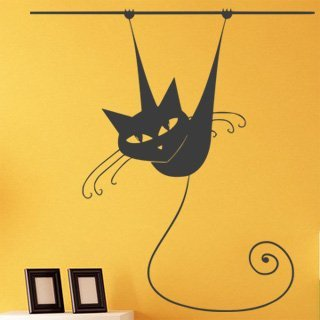 Nálepka na zeď Kočka 013 - 112x120 cm