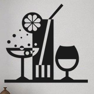 Nálepka na zeď Drinky 001 - 128x120 cm