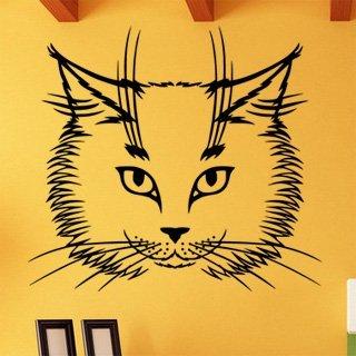 Samolepící dekorace Kočka 0473 - 111x100 cm