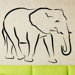 Nálepka na zeď Slon 002 - 128x100 cm