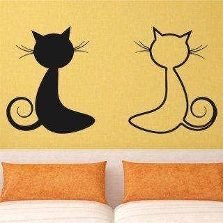 Samolepící dekorace Dvě kočky 0447 - 196x100 cm