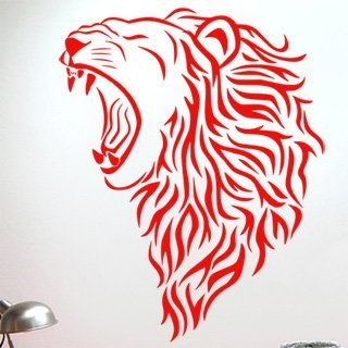 Nálepka na zeď Lev 007 - 100x127 cm
