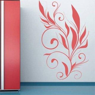 Samolepící dekorace Ornamenty z rostlin 001 - 120x190 cm