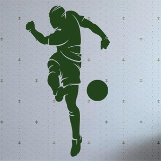 Nálepka na zeď Fotbalista 019 - 100x180 cm