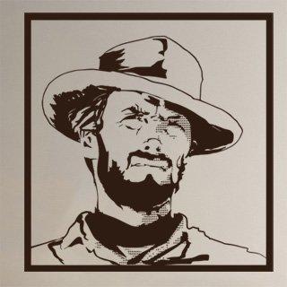 Nálepka na zeď Clint Eastwood 001 - 120x125 cm