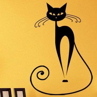 Samolepící dekorace Kočka 007 - 100x148 cm