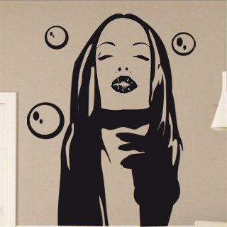 Samolepka na zeď Dívka 004 - 60x76 cm