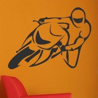 Samolepka na zeď Motorka 015 - 80x60 cm