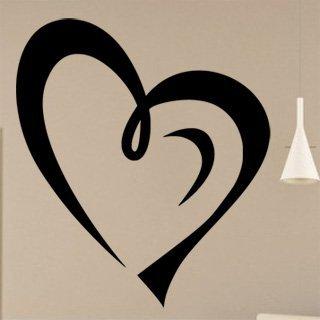 Samolepka na zeď Srdce 0252 - 60x69 cm