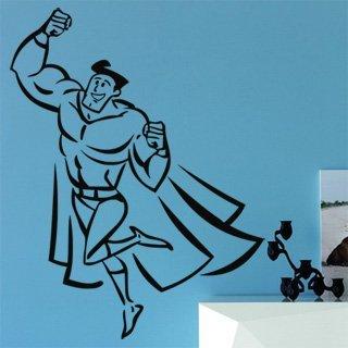 Samolepka na stěnu Superhrdina 002 - 120x157 cm