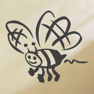 Nálepka na zeď Včela 002 - 139x120 cm