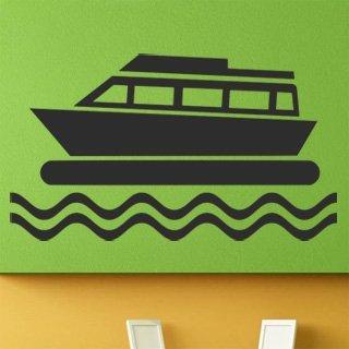 Samolepka na stěnu Loď 008 - 212x120 cm