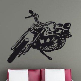 Samolepící dekorace Motorka 001 - 123x100 cm