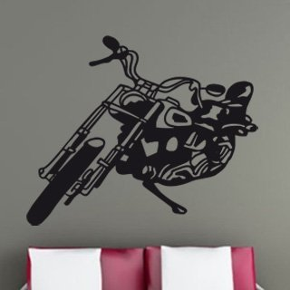 Samolepka na zeď Motorka 001 - 74x60 cm