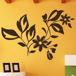 Nálepka na zeď Ornamenty z rostlin 037 - 178x120 cm