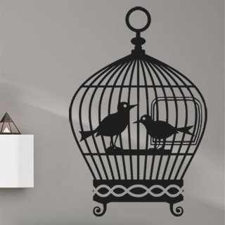 Samolepící dekorace Ptačí klec 001 - 100x153 cm