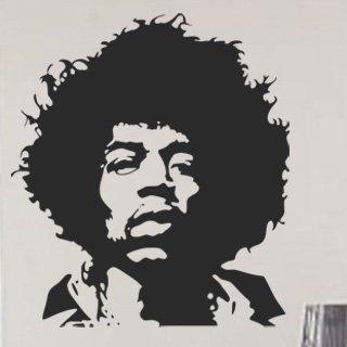 Nálepka na zeď Jimmy Hendrix 001 - 107x120 cm