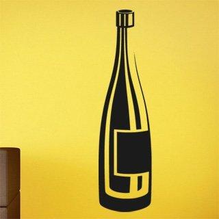 Samolepka na zeď Lahev vína 0078 - 32x120 cm