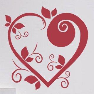 Nálepka na zeď Srdce 003 - 120x120 cm