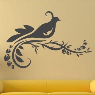 Nálepka na zeď Větev s ptáky 006 - 183x120 cm