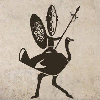 Samolepící dekorace Afričani 002 - 100x153 cm
