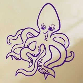Samolepka na stěnu Chobotnice 001 - 120x135 cm
