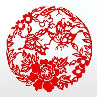 Samolepící dekorace Květiny s motýly 005 - 120x120 cm