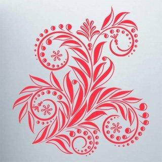 Samolepící dekorace Ornamenty z rostlin 033 - 120x132 cm