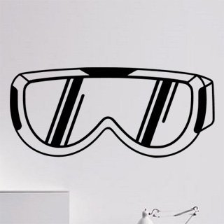 Samolepka Brýle na snowboard 0975 - 182x80cm